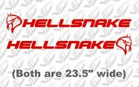 Hellsnake -PAIR Vinyl Decal Sticker Banner Ford Mustang Shelby Cobra GT500 GT350