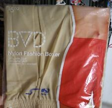 NOS Vtg 79 Beige BVD All Nylon Beige Boxer Briefs No Snap Front XL 40 42 NIP