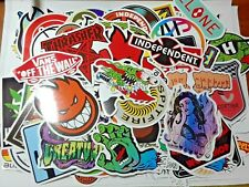 100 Skateboard brand Stickers. waterproof vinyl. Santa Cruz, thrasher, Spitfire