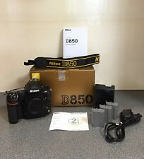 Nikon d850 Full Frame camera with battery and Sandisk memory card