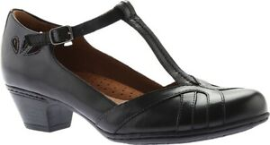 Rockport Cobb Hill Angelina T-Strap Sandal (Women's) in Black Leather - NEW