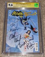 DC Comics Batman '66 Meets Wonder Woman '77 1 CGC 9.6 Signed Adam West Burt Ward