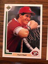 1991 Upper Deck Paul O'Neill Cincinnati Reds 133