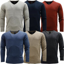 Men's V Neck Acrylic No Pattern Jumpers & Cardigans