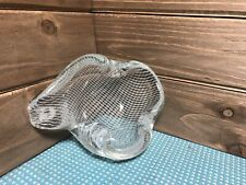 Murano Art Glass Trinket Dish Ash Tray Bowl Fishnet Design.