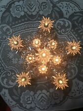 New ListingVintage Christmas Tree Topper Lighted Star Silver Tinsel