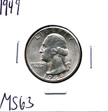 1949 25C Washington Quarter in Select Uncirculated Condition 49-1