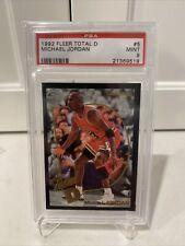1992 Fleer Total D Michael Jordan PSA 9 Mint