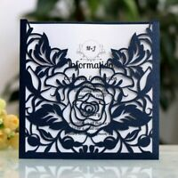 Laser Cut Greeting Cards For Wedding Party Favors Elegant Invitation Card 50pcs