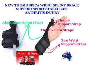 NEW  Thumb Spica Wrist Splint Brace Support Sport Stabilizer Arthritis Injury