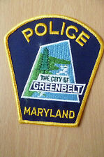 Patch- THE CITY OF GREENBELT MARYLAND POLICE DEPT PATCH (NEW,apx4.14x4.8inch)