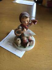 Vintage Hummel Figurine - Farewell - Girl w/ Lamb & Basket - Tm3 -