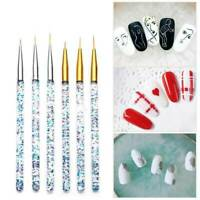 3*/Set Nail Art Brush Thin Brushes Line Drawing Pen Painting Liner - 7/9/11/15mm
