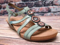 Ladies Cobb Hill by Rockport Hannah Teal Leather Sandal *CCK02TL