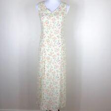 Rare Gap Woman Floral V-Neck Long Sundress Lime Green Orange Pink Maxi Dress - 2