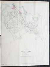 1854 Arrowsmith Rare Antique Map, Town Plan of Gladstone, Queensland, Australia