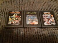 3 PACK ▪︎ INDY 500, SLOT RACERS, STREET RACER ▪︎ for Atari 2600 ▪︎FREE SHIPPING