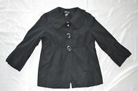 Womens INC International Concepts Jacket Blazer ~ Black ~ Sz M ~ Lined ~ Cute!
