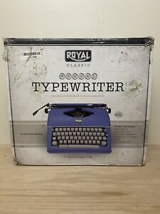 (Open Box) Royal Classic Exclusive 79106B Classic Manual Typewriter (Blue)