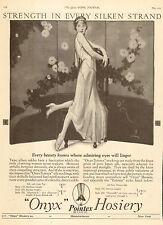 1925 vintage Hosiery AD ONYX Silk Pointex Stockings elegant perfect shape 050817