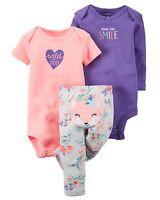 Carter's, WILD ABOUT DADDY, Baby Girl, 3 Piece Bodysuit & Pants Set Fox, Newborn