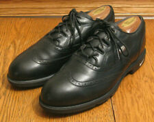 "Mens NIKE ""Zoom Air"" black leather Kempshall Last GOLF SHOES sz 9 mint!"