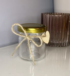 6 Small Sweet Jam Jars Wedding Favours Thank You Gift Birthday Mini Hearts Love