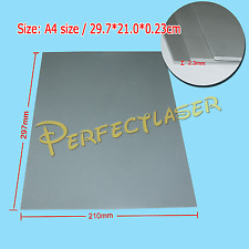 2pcs 2.3mm Thick Silicone Rubber Sheet Grey A4 Size  Engraving Engraver Cutting
