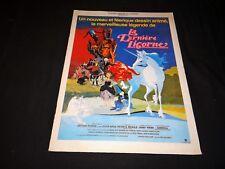 LA DERNIERE LICORNE magnifique rare dossier presse cinema animation 1982