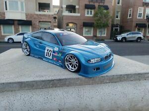 200mm Custom Paint BMW 4Tec-2 HPI TC7 Lipo Drift MST HSP Tamiya 1/10 Body Only