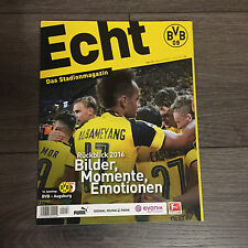 BVB@ BORUSSIA DORTMUND@Stadionmagazin ECHT@Heft Nr. 118@BVB-Augsburg@Rückblick