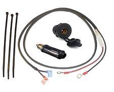 "12V Accessory Socket (DIN/Hella type - 37mm) + 1.2m (48"") Loom (Glass) + Plug"