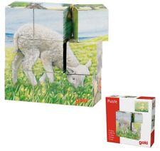 Würfelpuzzle BAUERNHOFTIERE Würfel-Puzzle Holz Tiere Kinderpuzzle 6 Motive Farm