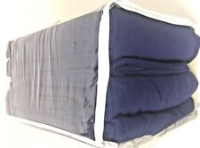 QUEEN 100% COTTON BLUE SOFT FLANNEL BED SHEET SET PORTUGAL BRAND NEW