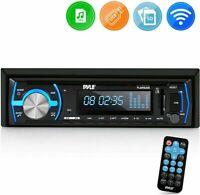 Marine Bluetooth Stereo Radio - 12v Single DIN Style Boat in Dash Radio