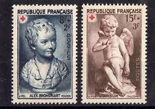 "FRANCE: SERIE DE 2 TIMBRES "" CROIX ROUGE "" NEUF** YTN°876/877 Cote:  6,10€"