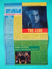 ►►OLD POLISH ARTICLE 80 photo The Cure Cult Bob Dylan Torino Barry Gibb Bee Gees