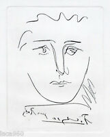Pablo PICASSO Pour Roby Plate Signed Etching + COA
