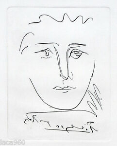 Pablo PICASSO Pour Roby Plate Signed Restrike Etching + COA