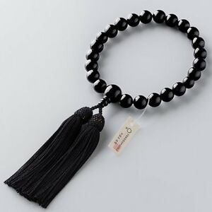 Japanese TAKIDA JUZU Prayer 22 beads Black Made in JAPAN JINJA for Men
