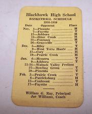BLACKHAWK Indiana High School Basketball Schedule Harbaugh CITIES SERVICE Lewis