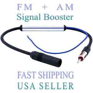 12v Car Antenna Stereo Radio FM Am inline Signal Amp Amplifier Built-in Booster