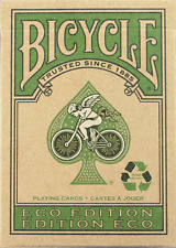 2 pack Bicycle Eco Edition Playing Cards Recycled Green Vegetable Ink Deck Magic