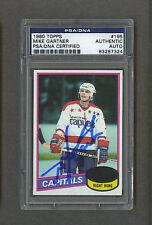 Mike Gartner signed Washington Capitals 1980 Topps rookie card Psa-Dna