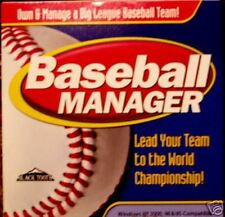 Baseball Sport Big League Manager Cd Cdrom Computer Software Team Manage Game