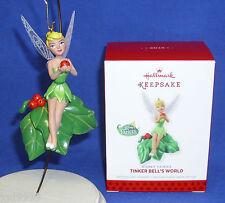 Hallmark Ornament Disney Fairies Tinker Bell's World 2013 Tink in Pixie Hollow