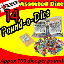 14 POUND OF DICE BAG CHESSEX GAME ASSORTED AD&D ROLE PLAYING COLLECT CHX001LB-14