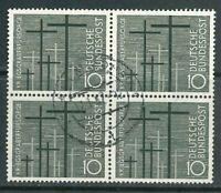 BRD Mi.-Nr. 248 als 4er Block zentrisch gestempelt