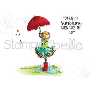 Tiny Townie Rachel Loves The Rain Cling Rubber Stamp STAMPING BELLA EB367