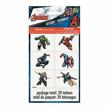"""Marvel Comics The Avengersâ""""¢ Temporary Tattoos - Party Supplies - 4 Pieces"""